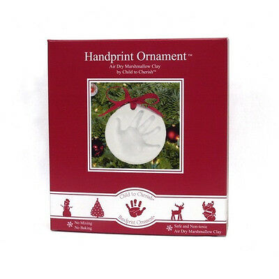 Child to Cherish Marshmallow Clay Handprint Christmas Ornament Kit - 159654