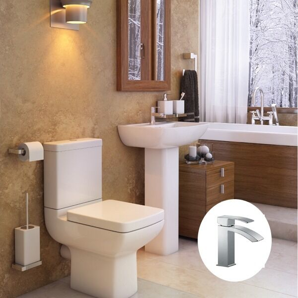 Pure Complete Bathroom Suite incl. toilet, basin and tap