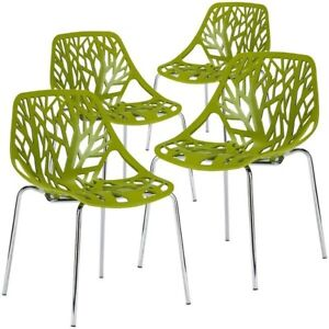 Poly and Bark Birds Nest Dining Chair set of 4
