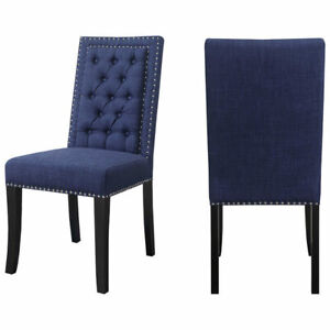 Eric Contemporary Polyester Dining Chair Set of 4