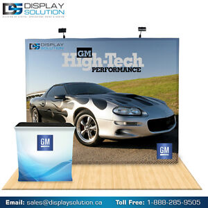 10 Ft Pop Up Trade Show Display Booth with graphics