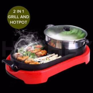 New 2 in 1 Electronic Grill Teppanyaki Stainless Steel