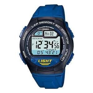 Casio W734-2A Mens Blue Digital Led Sports Watch w/ LAP MEMORY 5 Alarms