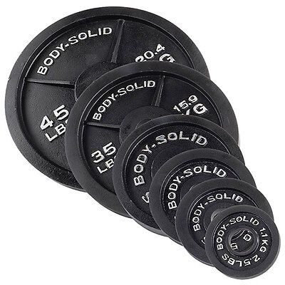 255 lbs. of Olympic Weight Plates - Item #OSB255 Body-Solid