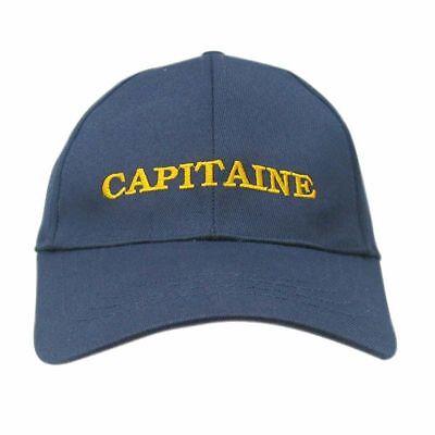 """Sea Club Cap, Cappy, Sonnenmütze """"Capitaine"""" blau mit goldener Stickerei,Baumw"""