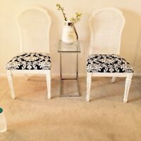 2 Pretty Dining Chairs