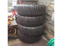 Set of wheel spares 32ml and a set of MT wheels £120