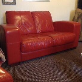 Art Deco style Leather 3 piece suite