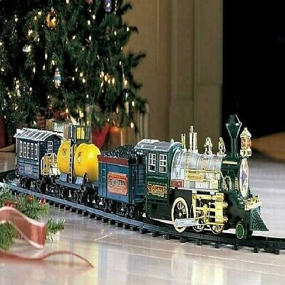 Deluxe Christmas Train Set W/ Lights &Sound Around Xmas Tree Holiday Musical Toy