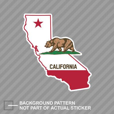 California Flag State Shaped Sticker Decal Vinyl republic CA california -