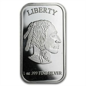 Lot 5 bar en argent/silver bullion 1 oz