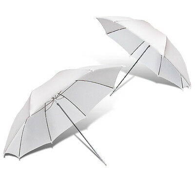 "Lusana Studio 2 x 33"" White Photography Light Video Translucent Soft Umbrella"