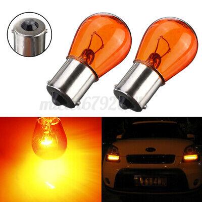 2x PY21W 1156 BA15S Amber/Orange Indicator Turn Signal Bayonet Car Light Bulbs
