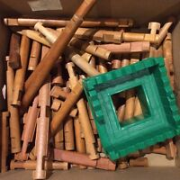 Box full of Lincoln logs