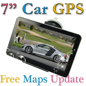 WinCE 6.0 + Flash 4GB 7 INCH HD Car  GPS Navigation 128RAM FM Mp3 Mp4 Free MAPs