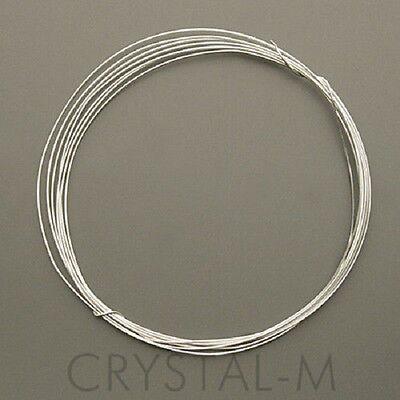2 m Silberdraht (echt); 925 Silber; Strickdraht 0,3 mm