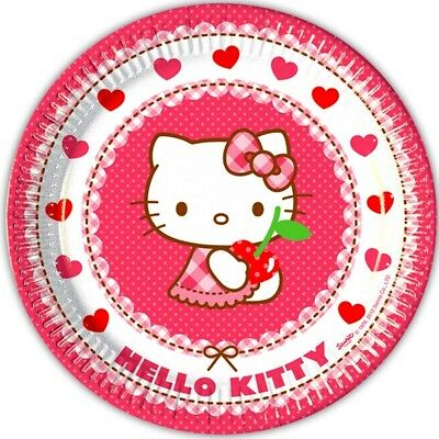 Hello Kitty Hearts, Motivteller, 8er Pack, 23cm, Partydekoration