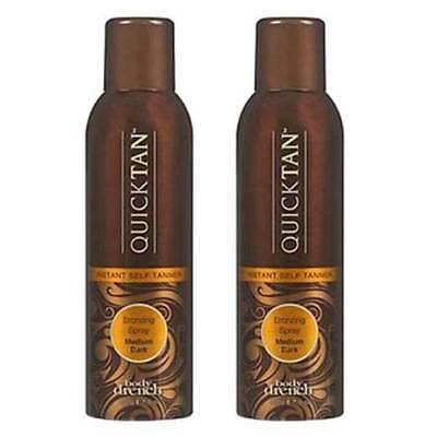 Body Drench Quick Tan Sunless Tanning Mist Medium Dark 6oz (Pack of 2)