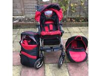 Push chair with car seat and carry