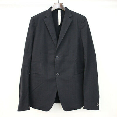 A Diciannoveventitre LEO BLAZER Cotton Linen Blazer Jacket Black 48 Men