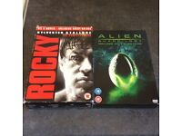 Fantastic boxsets complete Rocky and Alien Collection