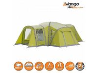 Vango palermo 800xl airbeam family tent , digital pump , inflatable sofa and chairs