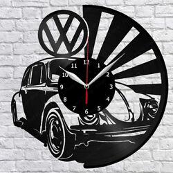 Volkswagen Retro Car Vinyl Record Wall Clock Fan Art Home Decor 12 30cm 1393