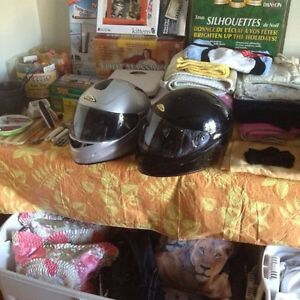 2 full face motorcycle helmets