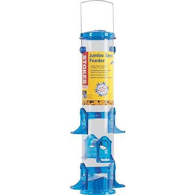 (4 Pack) Stokes Select Jumbo Seed Tube Bird Feeder