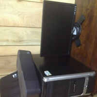 Custom Built Tri-Core CPU with Dell Monitor and Acc.