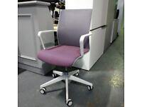 Senator Circo Mesh Office Task Chair, Purple / White / Grey