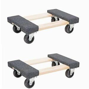 2x 18 Heavy Duty Mover 39 S Dolly 1000lb Moving Furniture Appliance Equipment Ebay