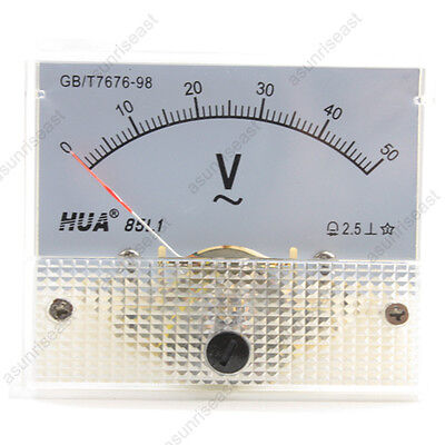 1 Ac50v Analog Panel Volt Voltage Meter Voltmeter Gauge 85l1 Ac0-50v