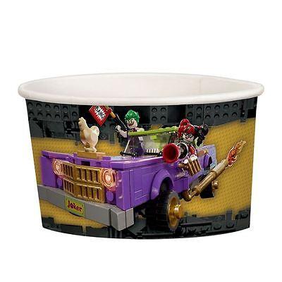 8pk LEGO Batman Movie Paper Treat Cups 251ml DC Superhero Birthday Party