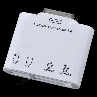 Connection Kit Adapter with SD MMC MS M2 TF Card Reader for Apple iPad