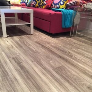 $3.99 INSTALLED - Vinyl tile hardwood flooring