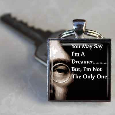 John Lennon Keyring Imagine Lyrics Handmade in the UK by Dandan Designs