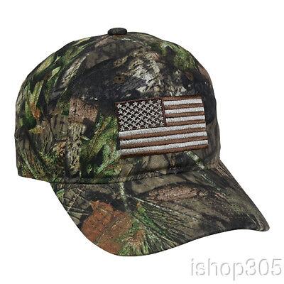 b54bb145 Mossy Oak Break Up US Flag Hat Outdoor Hunting Cap Tactical Camouflage USA  Hat