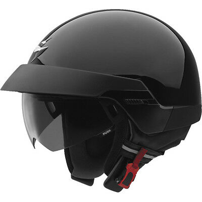 SCORPION EXO100 GLOSS BLACK HALF OPEN FACE HELMET - SMALL 100 Open Face Helmets