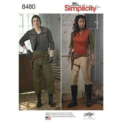 Women's Rogue One Inspired Warrior Costumes Simplicity Sewing Pattern 8480 - Rogue Costume Pattern