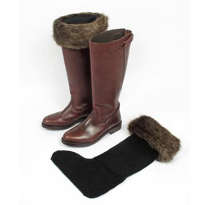 Thermal Boot Liners - Ladies Helen Moore Boot Liners Cosy Thermal Faux Fur Fleece Inner Sock Size 3-5