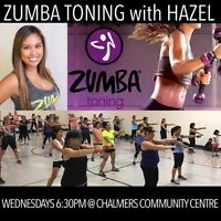 ZUMBA TONING WITH HAZEL - last chance for 50% off!