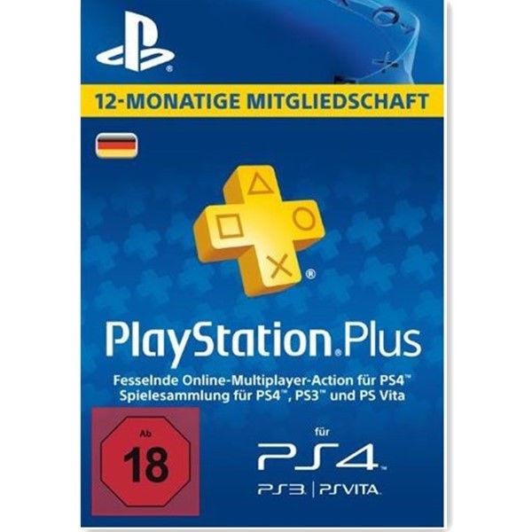 PlayStation PSN Plus 365 Tage 12 Monate 1 Jahr Mitgliedschaft Code PS3 PS4 - DE