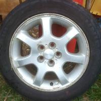 Dodge Neon Aiminum Rims and Tires