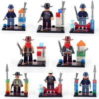 Lot of 8 Lone Ranger minifigures