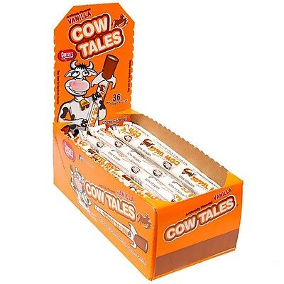 SweetGourmet Goetze's Cow Tales Caramel & Cream Sticks-36 PC Box -FREE - Cow Tale Candy