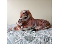 Stuffed toy tiger and cub