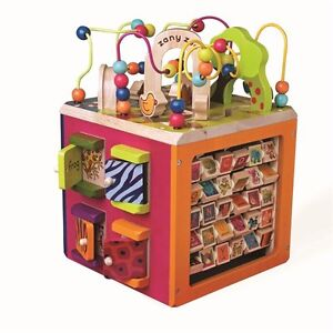 ISO Wooden Activity Cube
