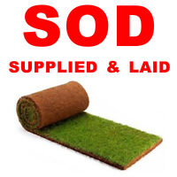 SODDING - SOD SUPPLIED AND LAID