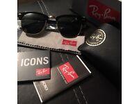 Ray-Ban Clubmaster Sunglasses Black **RRP £125** ONO